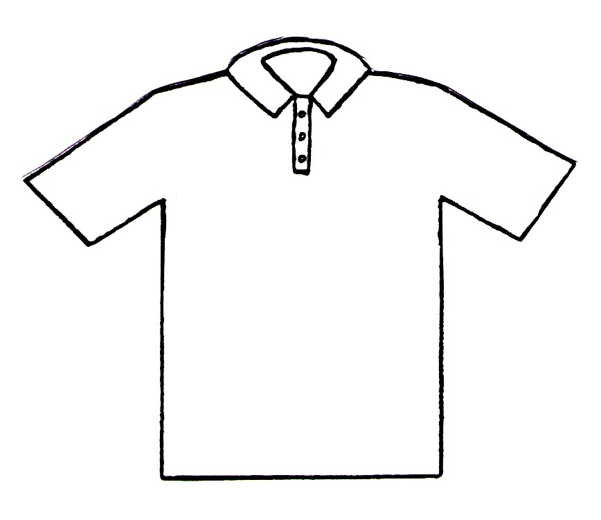 Free Coloring Pages Of A T Shirt T Shirt Coloring Page